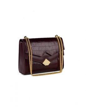 Chou-Bag-Burgundy-Croco