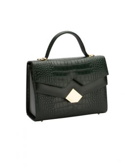 Chou-bag-Olive-Green-Croco-002