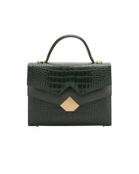 Chou-bag-Olive-Green-Croco-001