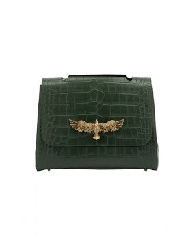 Jida-Large-Olive-Green-Croco-front-image